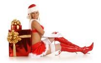 圣诞装美女图片-圣诞装美女壁纸大全