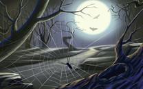 万圣节蜘蛛主题高清壁纸