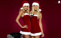 圣诞装性格美女壁纸图片大全