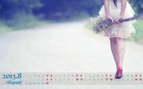 高清八月月历电脑壁纸