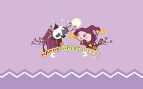 MOGOO蘑菇点点紫色万圣节壁纸