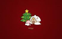 MOGOO蘑菇点点圣诞节壁纸