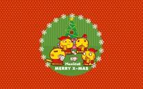 哈咪猫圣诞节桌面壁纸
