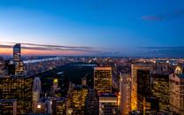 高空视角城市夜景桌面壁纸