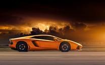 好看的橘色跑车图片壁纸