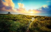 清晨自然景色唯美图片