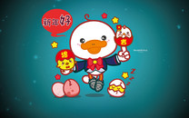 鸭嘴兽男孩春节壁纸Q萌版