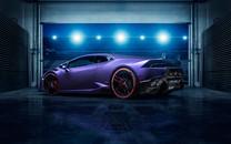 紫色HURACAN高清壁纸