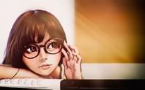 大眼睛可爱卡通女孩图片壁纸