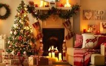 浪漫唯美的圣诞室内装饰图片壁纸