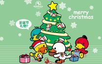 鸭嘴兽男孩圣诞壁纸