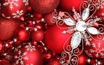 闪闪发光的圣诞球图片壁纸