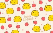 荔枝哈咪猫卡通图片壁纸
