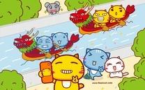 哈咪猫端午节卡通图片壁纸