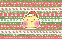 哈咪猫圣诞节卡通图片壁纸