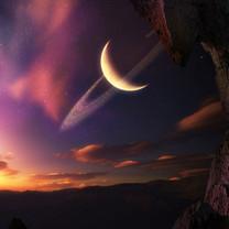 月球星空背景壁纸-月球星空背景壁纸大全