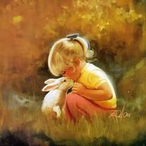 人体油画图片-小孩油画图片大全
