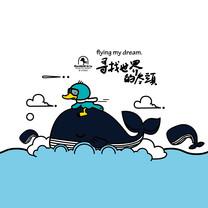 鸭嘴兽男孩放飞梦想iPad壁纸
