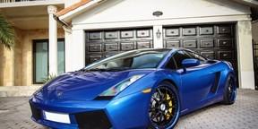 炫酷的蓝色跑车图片壁纸