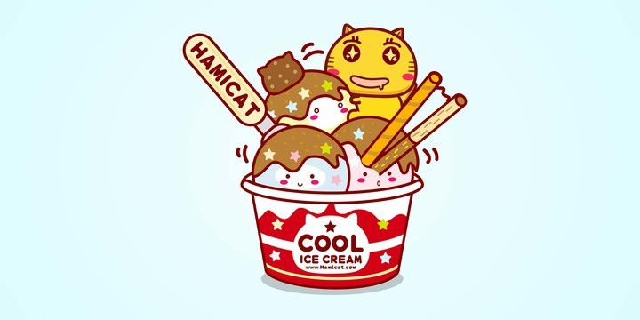 哈咪猫吃雪糕