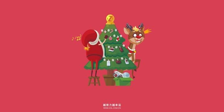 ZOL圣诞主题桌面壁纸
