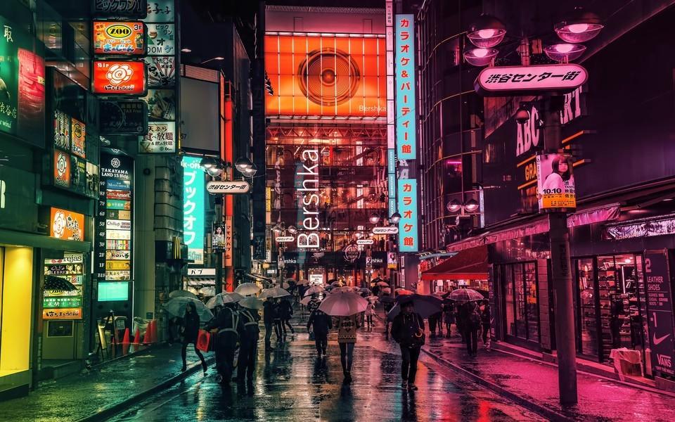 唯美城市灯光夜景桌面壁纸