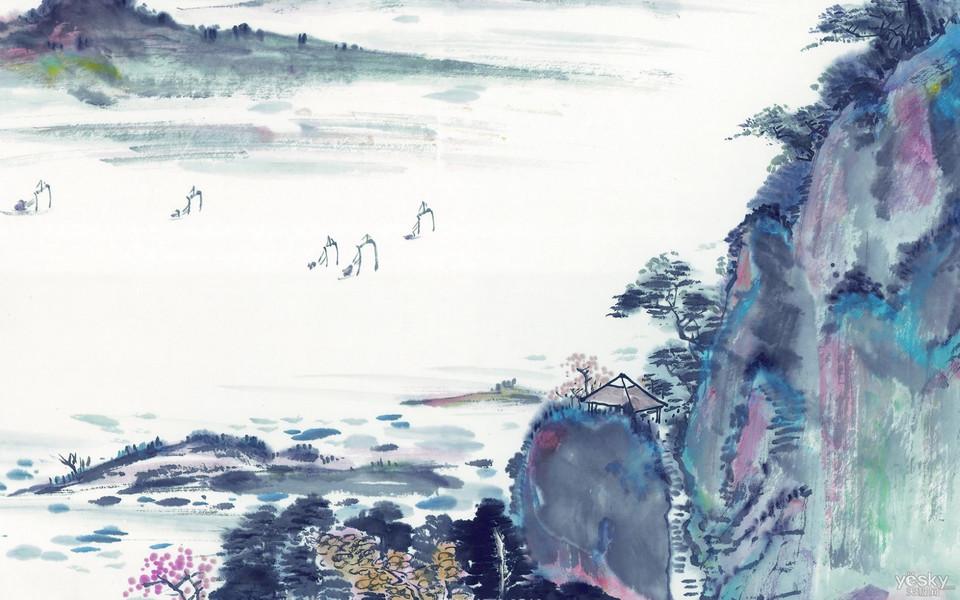 阿凡达高清壁纸_山水关情——高清山水水墨壁纸-ZOL桌面壁纸