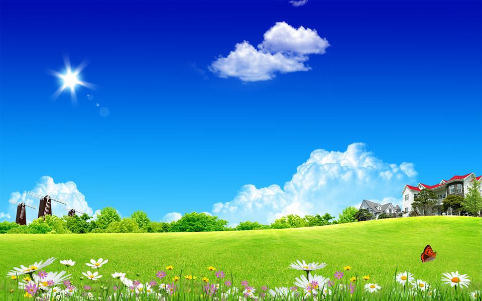 电脑上怎样看直播_阳光灿烂的春天电脑桌面壁纸 第3页-ZOL桌面壁纸