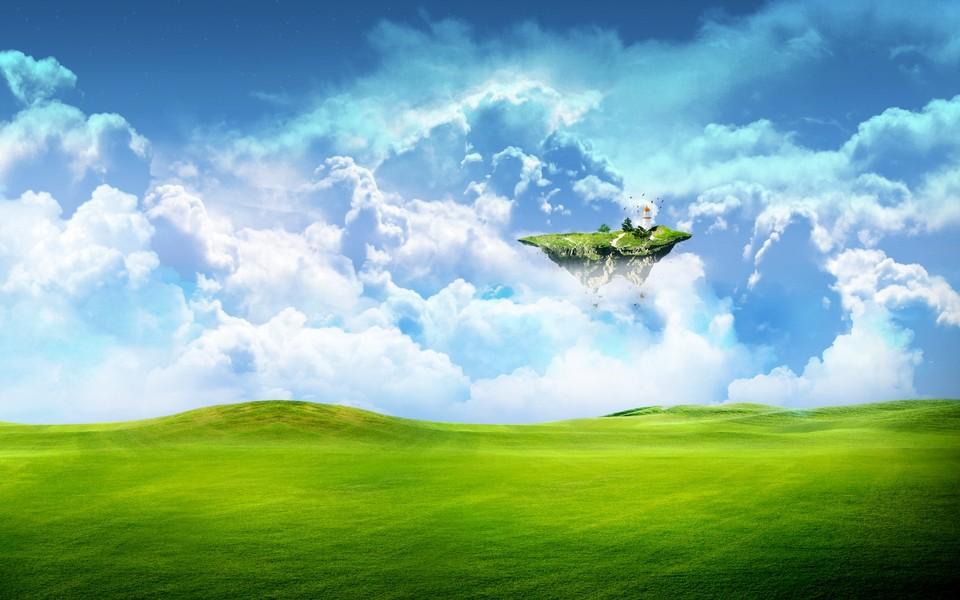 蓝天白云风景图片壁纸大全