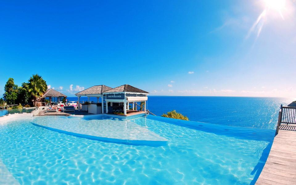 高清桌面壁纸_清新蓝色海岸高清风景桌面壁纸-ZOL桌面壁纸